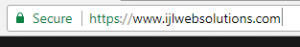 Secure green SSL padlock icon shown by Chrome